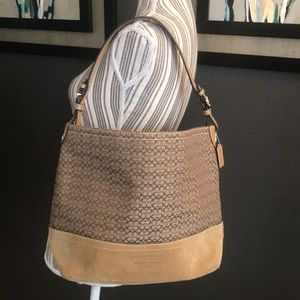 Coach, Stunning leather with fabric bag